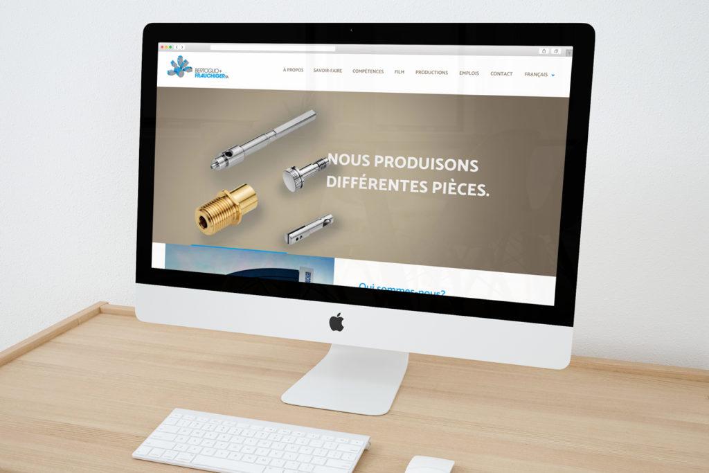 Page d'accueil du site internet de Bertoglio+Frauchiger