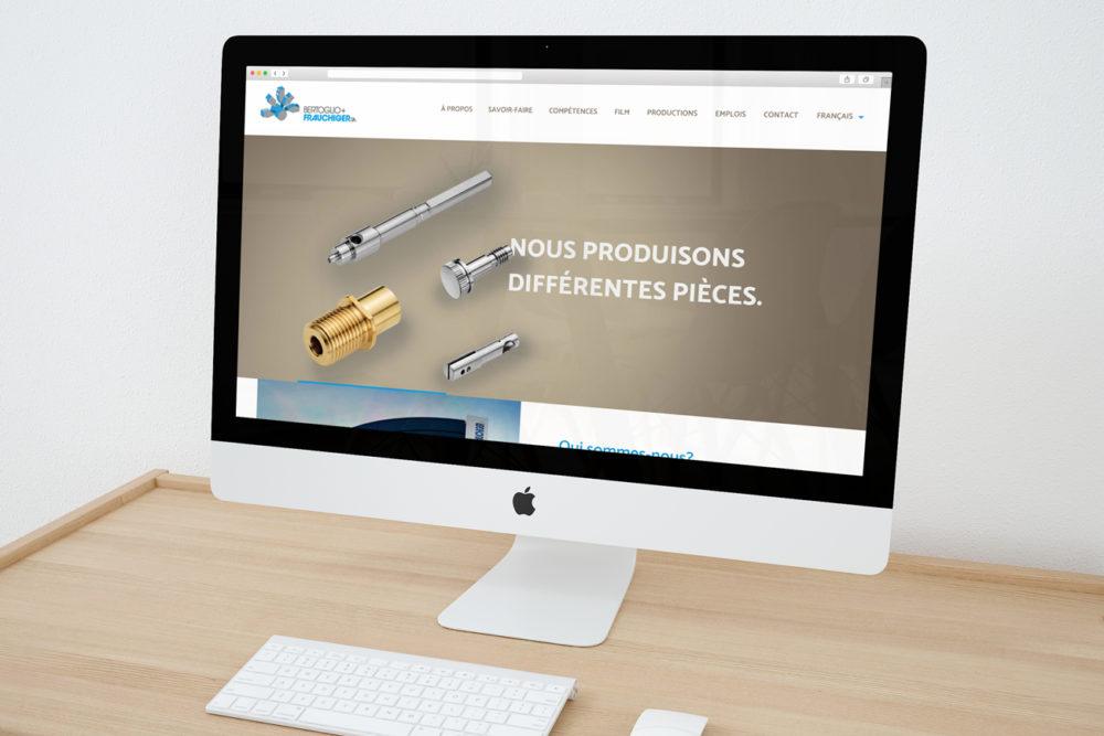 Page d'accueil du site internet de Bertoglio+Frauchiger SA