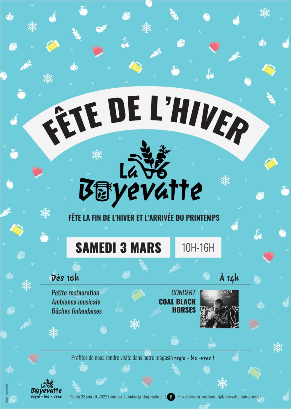Affiche pour la Fête de l'hiver de La Boyevatte