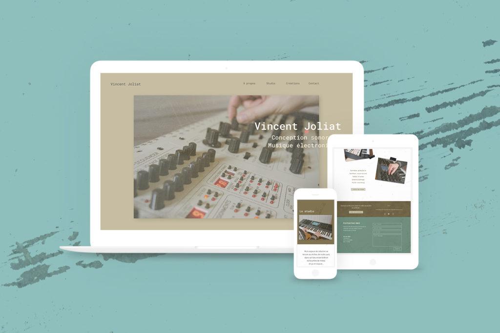 Site web de Vincent Joliat