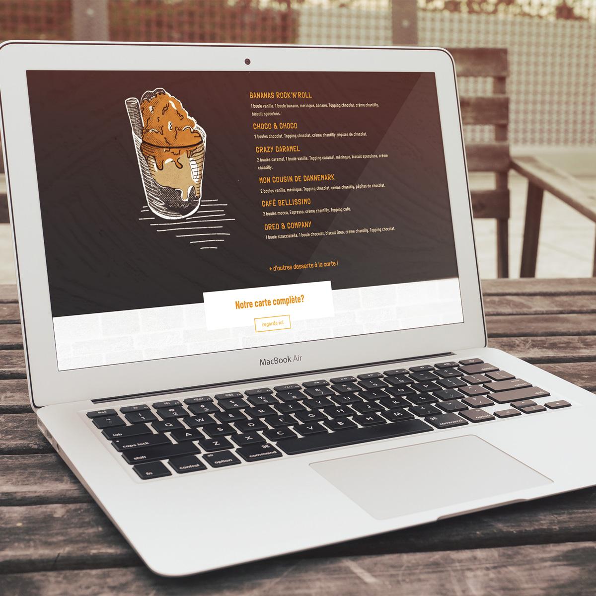 Site internet visible sur un ordi portable