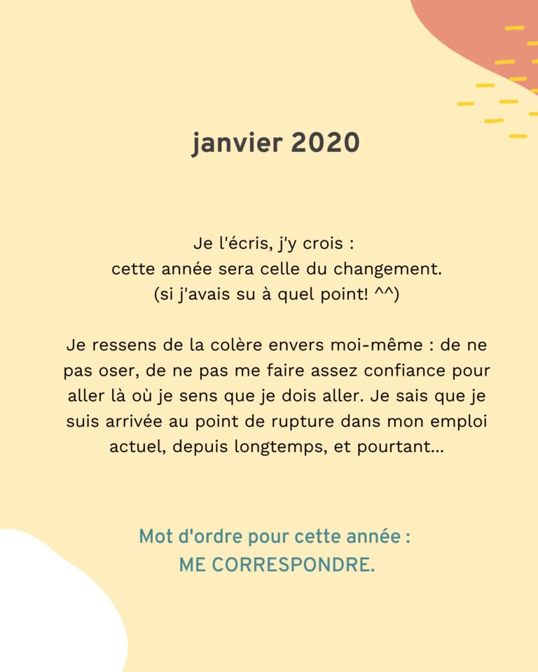 Bilan 2020 : janvier