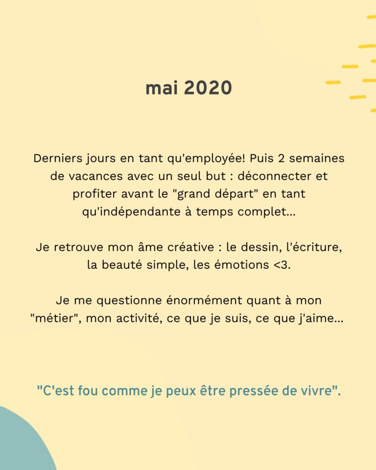 Bilan 2020 : mai