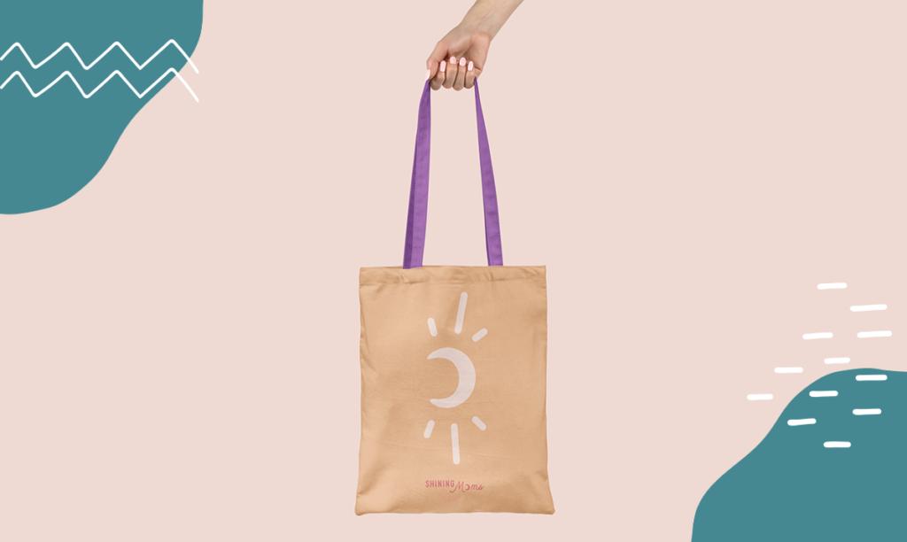 Logo imprimé sur un sac en tissu