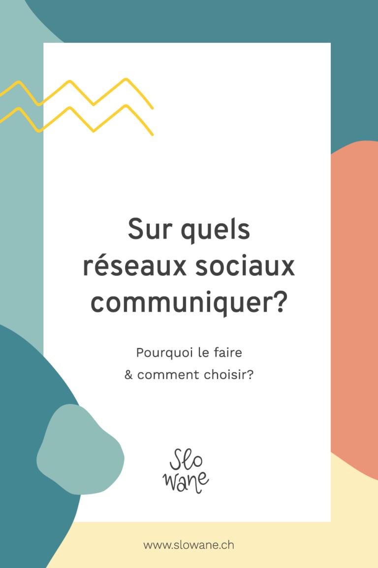 Quel réseau social choisir pour sa communication? Slowane.ch